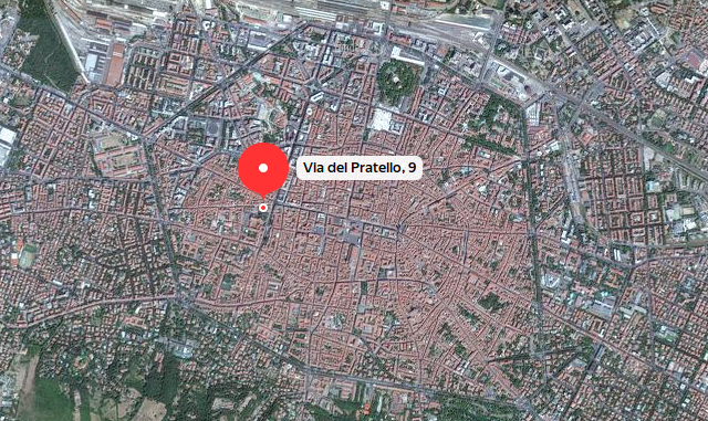 Map: via dell Pratello, 9, Bologna
